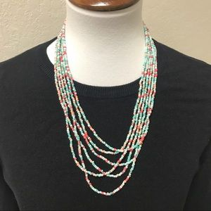Jewelry - Beaded multi-strand necklace NWT